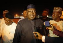 Lawan donates to market fire victims