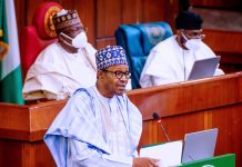 President Buhari during the budget speech on ASUU IPPIS enrollment