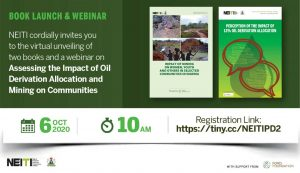 Two critical books on oil derivation revenue and mining communities by Nigeria's extractives watchdog